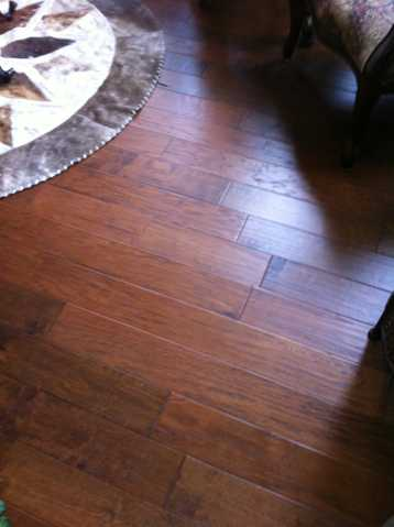 380 Sq. Ft. Hand Scraped Nngineered Hard Wood Flooring @ $1.25 Pe