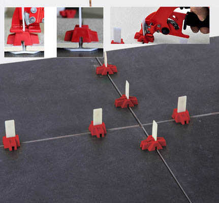 Tile Leveling With Dta Lippage Leveling System