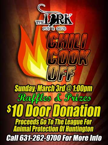 Chili Cook Off To Benefit Homeless Animals