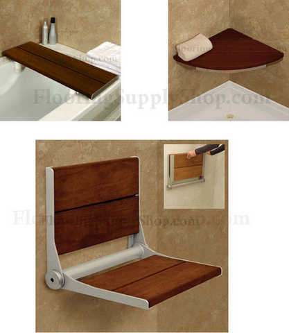 Invisia Bathroom Shower Seats Brazilian Walnut
