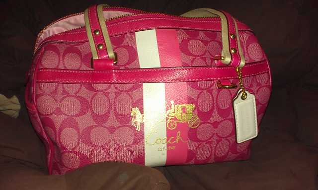 Rare Large Pink Coach Heritage Satchel * Need To Sell Asap * $200obo