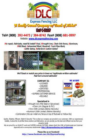 Licensed Fence Contractor