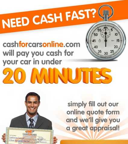 Cash For Cars! We Buy Cars 1 - 877 - 712 - 9322