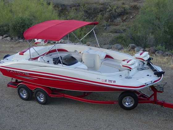 2007 Tahoe 215 Fish And Ski Deck Boat V8 W / Trailer