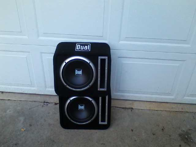 A Pair Of 10 Inch Sub - Woofer's In 2 Vented Enclosure's