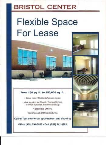 Flexible Space For Lease