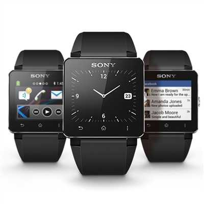 Sony Smartwatch 2 With Silicon Strap Android Bluetooth Watch Blac