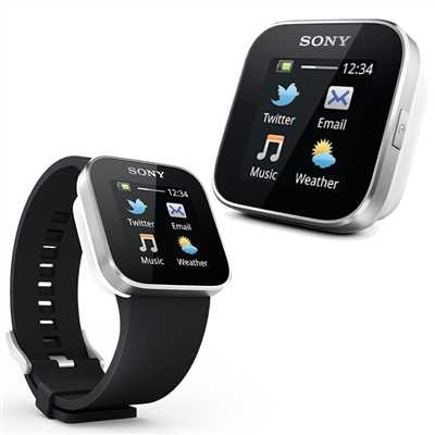 Sony Smartwatch 1 With Silicon Strap Android Bluetooth Watch