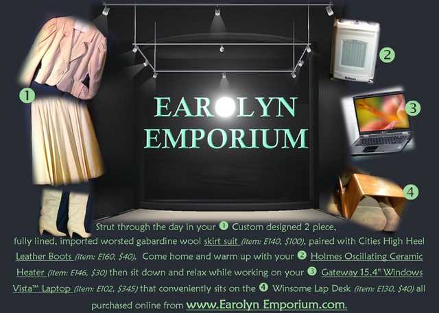 "Earolyn Online Emporium | The Internet's Best Virtual"" Yard Sale"