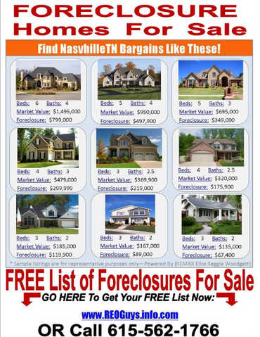 Nashvillle Area Foreclosed Homes