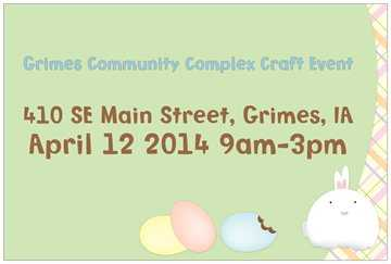 Grimes Community Complex Craft Event