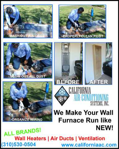 Heating & Air Conditioning Repairs 310 - 530 - 0504