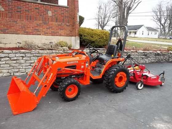 2009 Kubota B7510 Loader Blade Bush Hog 4wd