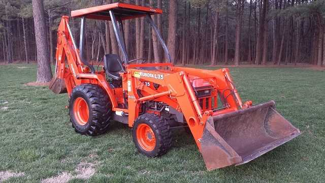 2006 Kubota L35 Tractor Loader Backhoe