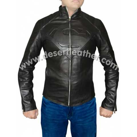 Movie Superman Smallville Real Leather Jacket For Sale