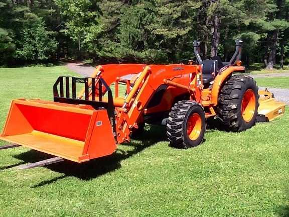 2012 Kubota Mx5100 4wd Loader Forks Brush Hog