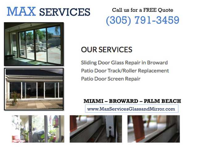 North Miami Beach, Fl: Broken Sliding Glass Door Repair Service