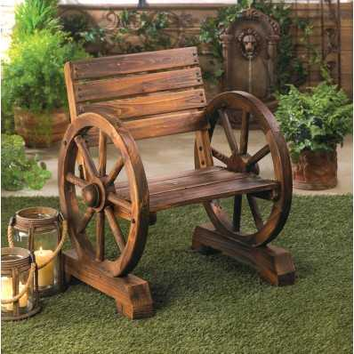 Country - Style Wagon Wheel Chair