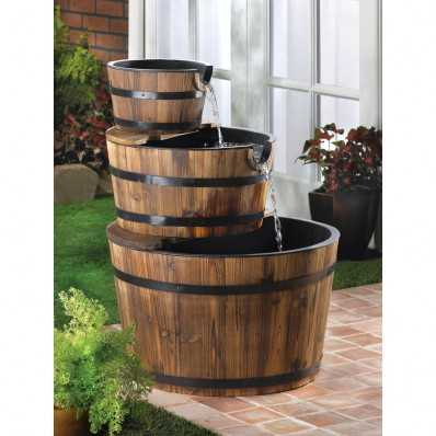 Bountiful Apple Barrel Fountain