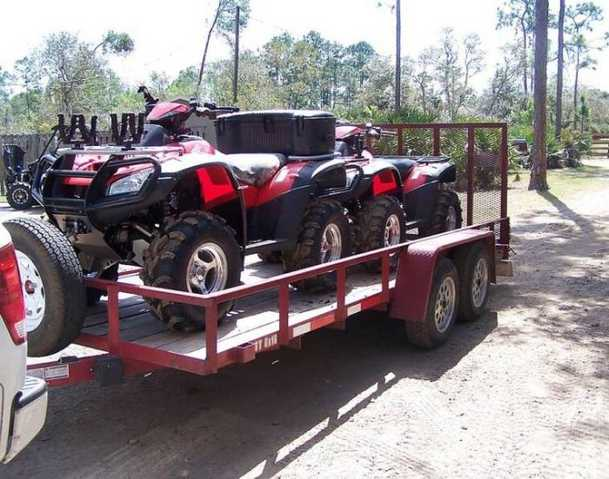Two Atvs 2006 Honda Rincon With Anderson Trailer
