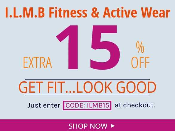 Get Limited Time Discount On Fitness And Active Wear