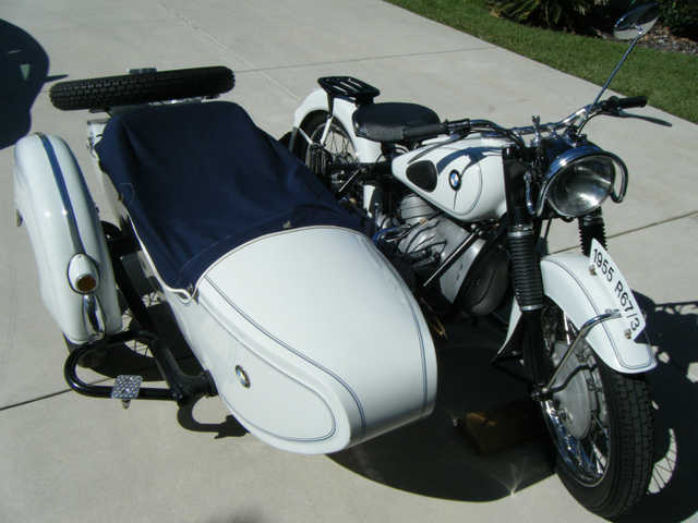 1955 Bmw R673 With 1956 Bmw Spezial Sidecar