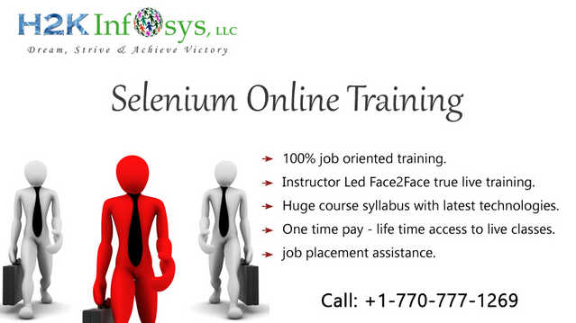 Selenium Online Training With Placement Assistance In Usa, Uk