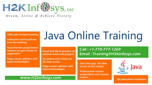 J2ee Java Online Training And Placement Assistance In Usa, Uk