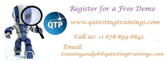 Qtp Online Training With Placement Assistance In Usa, Uk