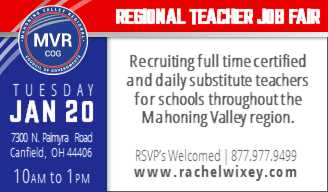 Mahoning Regional Teacher Job Faair