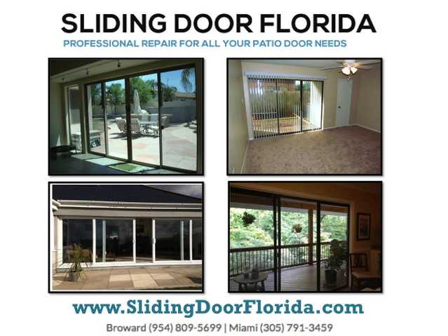 In Broward Sliding Door Repair, Glass & Mirror Repair Service