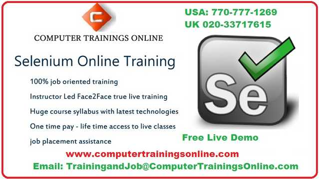 Selenium Online Training And Placement Assistance In Austin