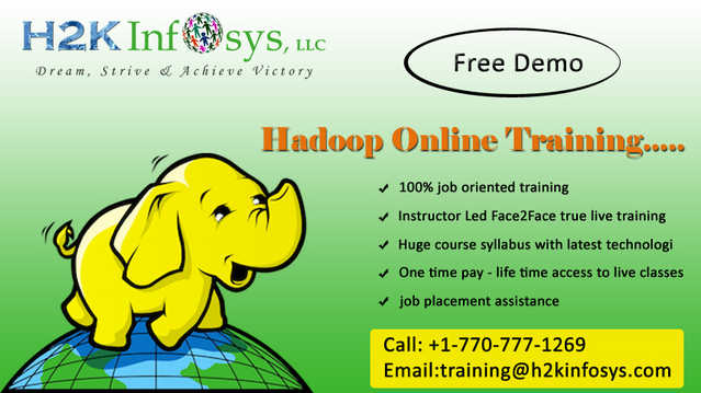 Hadoop Training Online And 100% Job Assistance In Atlanta