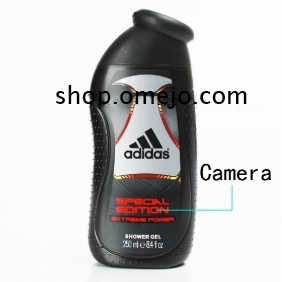 Men's Shower Gel Bathroom Spy Camera Hd Dvr Motion Detection Remo