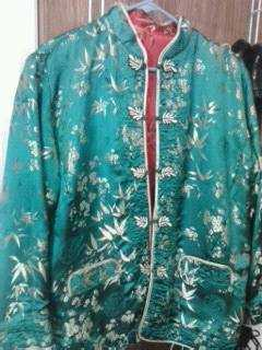 Exotic Chinese Silk Coat On Sale - Like New