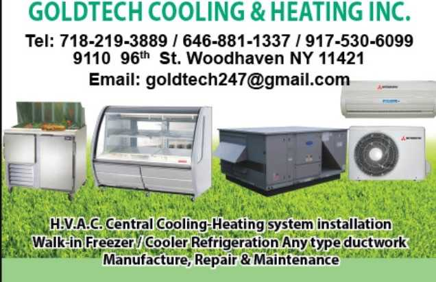 Goldtech Cooling & Heating Inc. - Install Ductless Air Conditioning, Heatin
