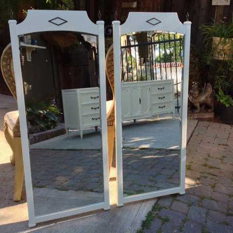 Vintage Matching Beveled Mirrors