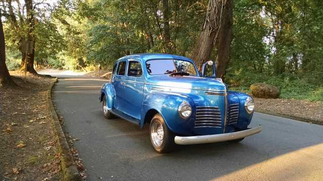 1940 Plymouth Roadking - Blue Classic Car 4 Door