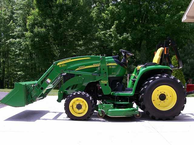 2012 John Deere 3320 With Loader&lawn Mower