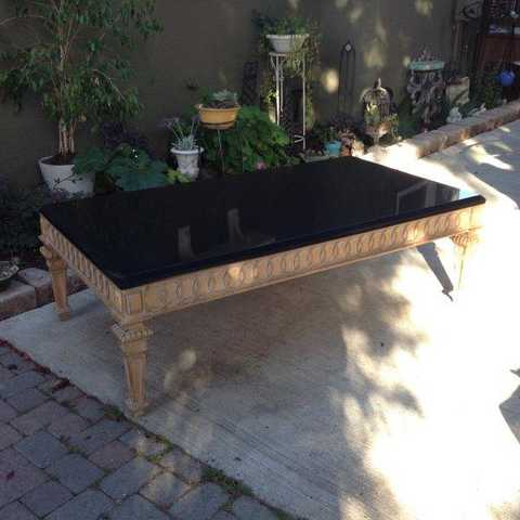 Rare Extra Large Neoclassical Granite Coffee Table