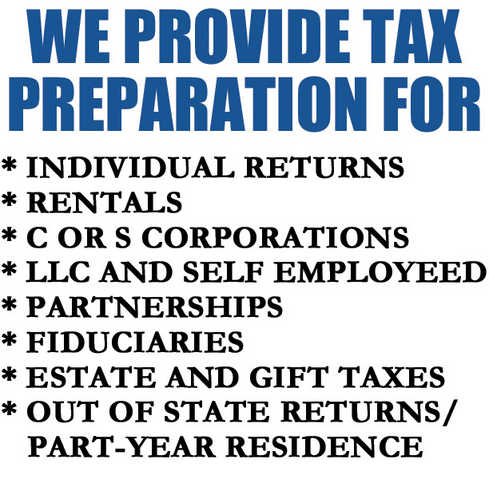 Tax Service Dc Accounting, Bookkeeping Open Every Day 9am - 9pm