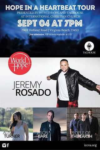 American Idol's Jeremy Rosado Live Free Concert, This Friday 9 / 4