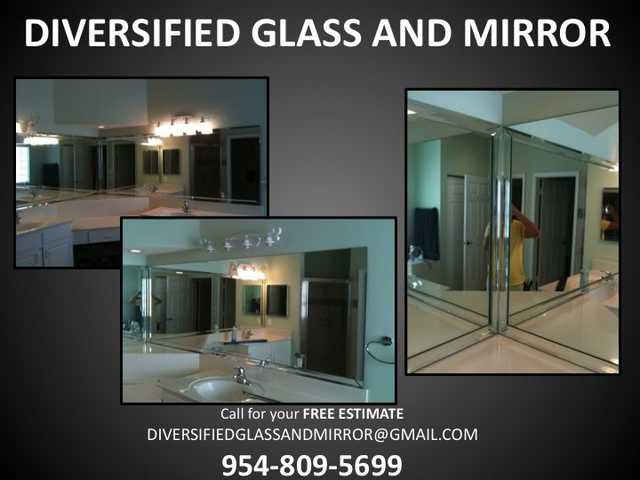 Mirror Repair, Mirror Installation, Glass Repair, Hurricane Impac