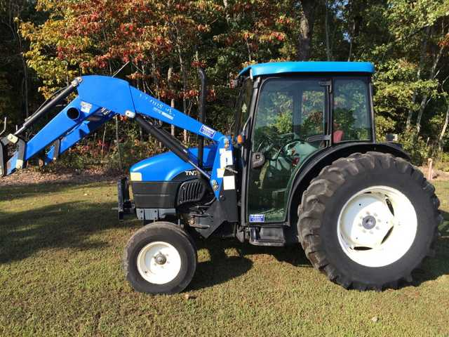 2011 New Holland Tn75 Cab Air Tractor At $4000