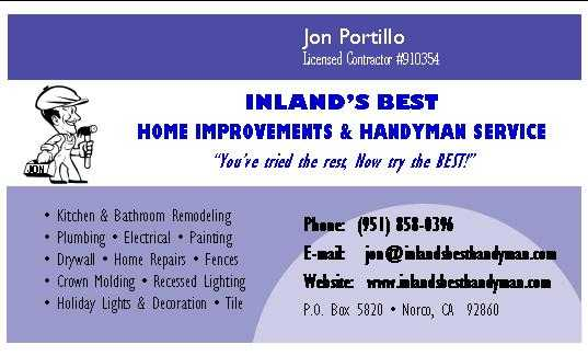 We Can Do Anything Electrical > Inland's Best Handyman <