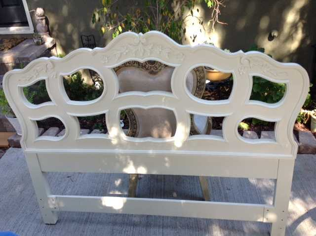 Vintage Ornate French Full Headboard