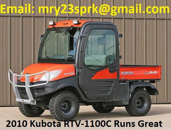 2010 Kubota Rtv - 1100c Orange - $2200