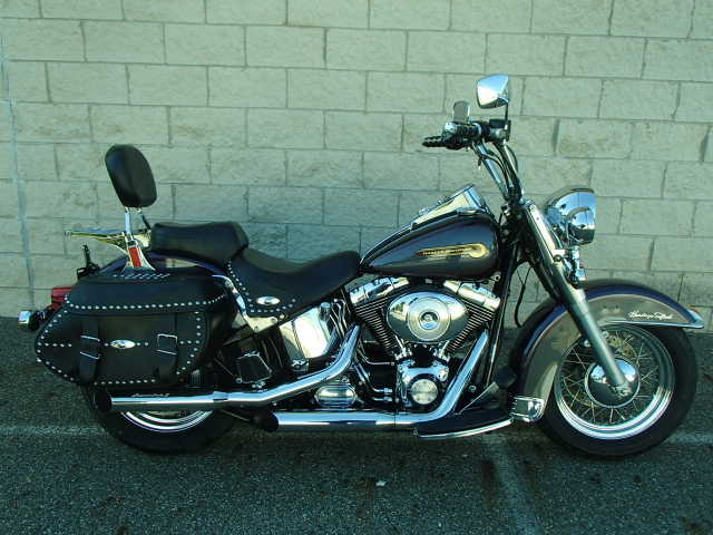 2004 Harley Davidson Heritage Softail In Purple And Silver