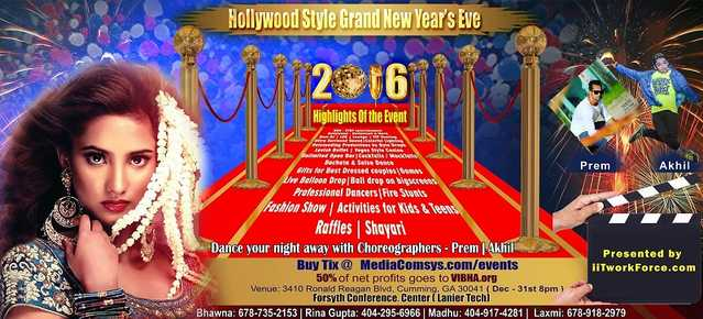 Hollywood Style Grand New Year's Eve 2016 @ Forsyth Conference Ce
