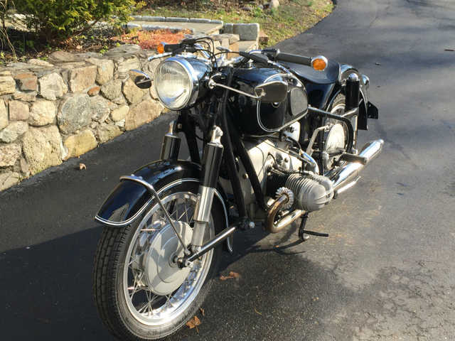1965 Bmw R69s Motorcycle Horned Cylinder